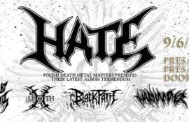 Διαγωνισμός: Κερδίστε CDs, T-Shirts και προσκλήσεις για τη συναυλία των HATE στην Αθήνα!