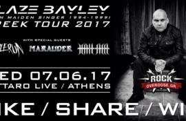 Διαγωνισμός: Κερδίστε προσκλήσεις για τη συναυλία του BLAZE BAYLEY στην Αθήνα!