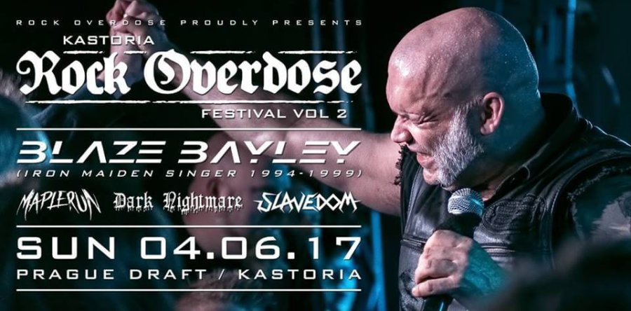 Το πρόγραμμα του αποψινού Kastoria Rock Overdose Fest (Blaze Bayley,Maplerun,Dark Nightmare,Slavedom)
