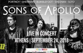 Διαγωνισμός: Κερδίστε προσκλήσεις για τη συναυλία των SONS OF APOLLO στην Αθήνα!