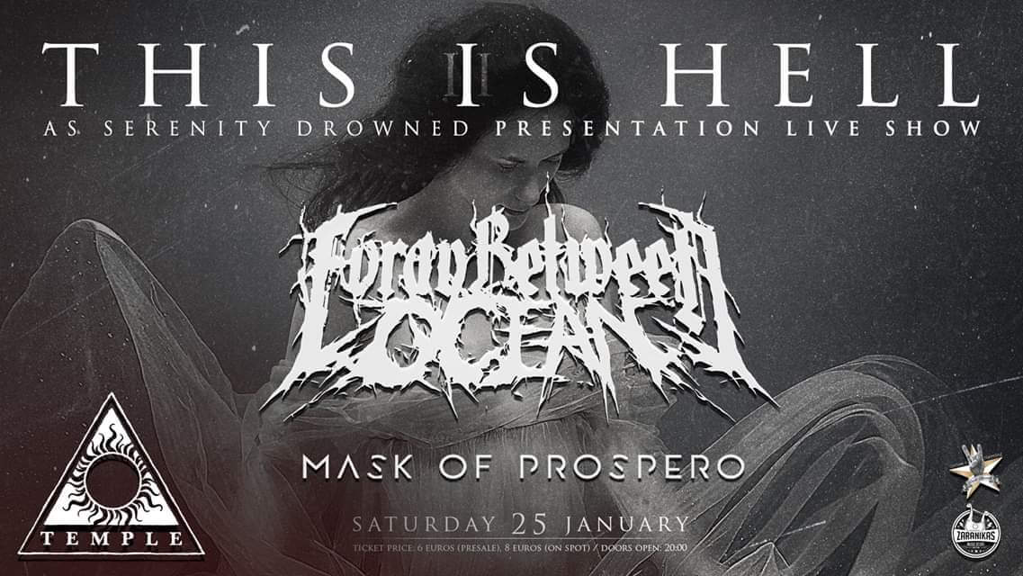 FORAY BETWEEN OCEAN w/ Mask of Prospero live @ Temple, Αθήνα, στις 25 Ιανουαρίου
